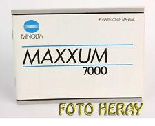 Minolta Maxxum 7000 original instructions englishe Edition 03055