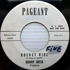 JOHNNY GRECO doowop group PAGEANT 45 ROCKET RIDE b/w WHY DON'T Y' LOVE ME ws40