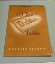 1950's Deltacraft 40 Fine Delta Tables Construction Manual 4557 Midcentury Style