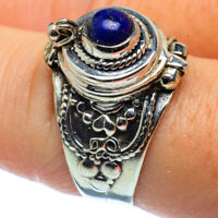 Lapis Lazuli 925 Sterling Silver Poison Ring Size 8 Ana Co Jewelry R36909F