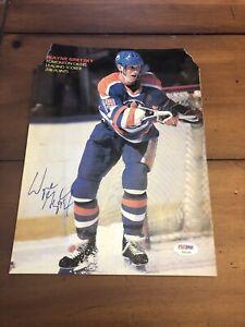 Wayne Gretzky Signed/Auto PSA/DNA Authenticated  Magazine Page.