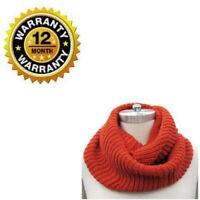 Knit Infinity Scarf For Women Orange Thick Winter Warm Wrap Circle Loop Shawl