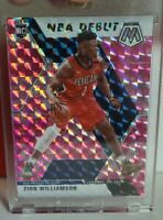 2019 2020 Zion Williamson Mosaic NBA Debut Pink Camo # 269 New Orleans Pelicans