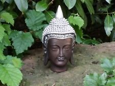 Thai Buddha Dekofigur Budda Kopf Buddhismus Skulptur Feng Shui Statue Glück Joga