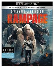 Rampage 4K UHD 4K (used) Blu-ray Only Disc Please Read