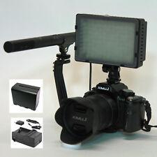 Pro AX100 VM micrófono escopeta SC-12L Luz de vídeo F970 Para Sony AX100 AX53 AX33 CX900