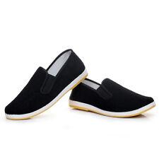 Mens Womens Chinese Martial Art Kung Fu Cloth Shoes Tai Chi Flats Casual Shoes