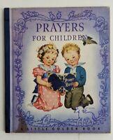 Vintage Prayers For Children A Little Golden Book 1942 HC Beautiful Illustration