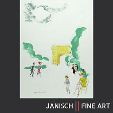 """Kees VAN DONGEN - """"ARC DE TRIOMPHE"""", farblithographie, daté, 1949!"""