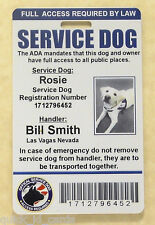HOLOGRAM SERVICE DOG ID  BADGE  FOR SERVICE ANIMAL PROFESSIONAL ADA TAG 6