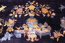Seidenteppich Aubusson Art Deco CHINA SEIDE - Orient TEPPICH Rug 180x123cm #0096