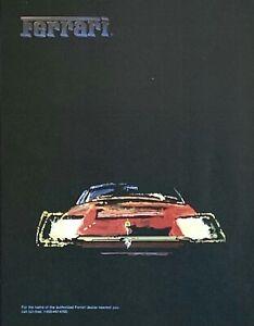 1985 FERRARI Red Car Great Graphic Art Vintage PRINT AD