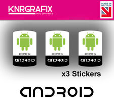 KNR7718 3x Android Sticker Decal Badge PC Repair