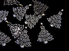 10 Pcs -  Tibetan Silver Christmas Tree Charms Xmas Pendant Festive S43