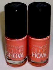 2 Maybelline Color Show LE Vintage Leather Nail Polish  PRETTY IN PEACH 115