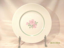 "Franciscan China Cherokee Rose Dinner Plate Green Band California 10.5"" Gold Trm"