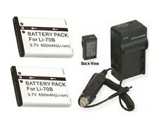 TWO 2 Batteries + Charger for Olympus FE4020 FE4040 VG110 VG120 VG130 VG140