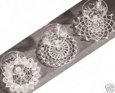 Vintage Crochet PATTERN to make Mini Small Doily Snowflake Coasters
