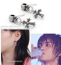 Korean TOHOSHINKI DBSK TVXQ Hero Skull Cross Earrings