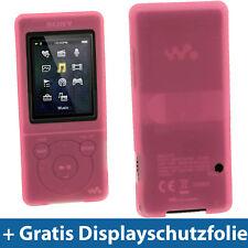 Pink Rosa Silikon Tasche für Sony Walkman NWZ-E473 NWZ-E474 NWZ-E473K NWZ-E474B