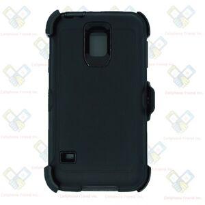 Black for Samsung Galaxy S5 Defender Case w/ Belt Clip fits Otterbox