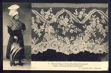 Carte Postale FRANCE ARGENTAN Coiffe et Costume de Basse Normandie DENTELLE LACE