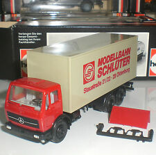 HERPA CAMION MERCEDES DELIVERY TRUCK SCHLÜTER 3 AXES ECHELLE 1:87 HO OCCASION