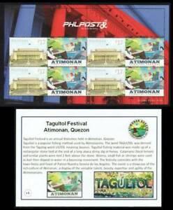 Philippines SK – 2021 TAGULTOL Festival, Atimonan, Quezon Personalzed MS/4, MNH