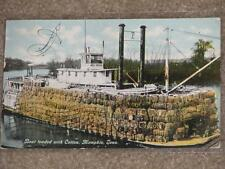 Boat Loaded with Cotton, Memphis, Tenn., Used, Early1900`s