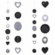 Filzgirlande Deko Girlande Wandhänger Wanddeko grautöne mit Sinn Spruch ca 145cm