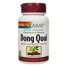SOLARAY Dong Quai Root Extract - 250 mg - 60 Vegetarian Capsules - Expires 2021