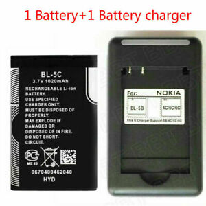 New For Nokia BL-5C 1020mAh 1100 6600 6230 1108 1112 Battery+Battery charger
