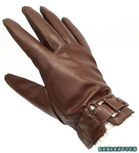 FAUX LEATHER HAND GLOVES MEN'S WATERPROOF TOUCH SCREEN OUTDOOR