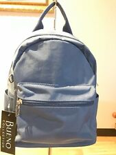 NWT Bueno Collection Backpack Crush Nylon W/Web Accents Lightweight NICE!! $55