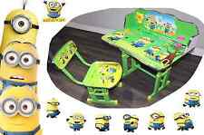 Kids Children Home Study DESPICABLE MINION Table Storage Cartoon Desk &Stool Set