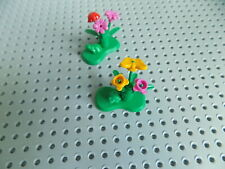 LEGO 2 LilyPads w/ Flowers Plant Ladybug Butterfly Frogs Minifigure Animal