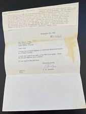 1955 American Maracaibo Crude Oil Venezuela, Letter From R.N. Webster New York