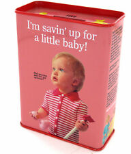 Savin Up For A Little Baby  Tin piggy Bank Retro Funny Gift Cash Stash by Blue Q