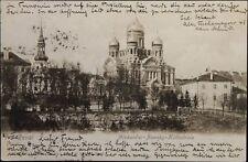 RUSSIA - ESTONIA 1903 PC Postcard Reval - Winterthur CH Alexander Newsky Cathedr