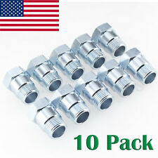 10*Oxygen Sensor Extender Adapter Extension Spacer HHO O2 Bung Test Pipe 02 ZINC