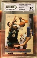 Rare 2003 LeBRON JAMES Rookie card SI For Kids Graded By GEM Mint 10