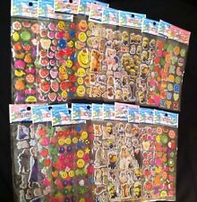 20 Sheets Girls 3D Stickers Assorted Lot