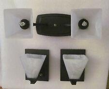 RV 12 Volt Impressive Black Wall Sconce & Dinette Light Alabaster Glass Shades