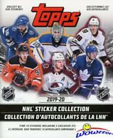 2019/20 Topps Hockey HUGE Sticker Collectors Album with 10 Bonus Stickers!