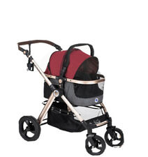 Hpz Pet Rover Prime 3-in-1 Luxury Dog/Cat/Pet Stroller - Ruby Red