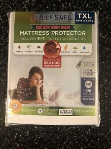 New! SLEEPSAFE TWIN XL Allergen/Bed Bug Blocking Mattress Encasement cover