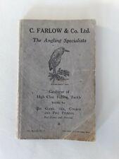 PECHE ancien guide FARLOW catalogue d'articles de pêche 91ème ėdition 1931