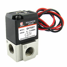 "QVT307 DC 24V Three Way Two Position 1/4"" NPT Solenoid Valve"