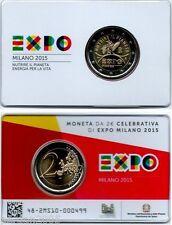 ITALIA 2015 2 EURO FDC UNC EXPO MILANO --> IN COINCARD UFFICIALE ZECCA I.P.Z.S.