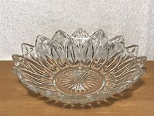 Vintage  Clear Glass Fruit Bowl